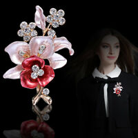 Vintage Rhinestone Crystal Flower Wedding Bridal Bouquet Brooch Pin Jewelry Gift