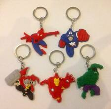NEW Lot of 5 Avengers Marvel Figures Keyrings - For loot bags favours prizes