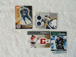 Cody Hodgson TWO Jersey + `11/12 Score Hot Rookies & UD Hockey Card Day Rookies