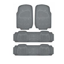 Motor Trend All Weather Rubber Car Floor Mats for SUV fits Honda Pilot - Gray