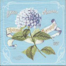 2 Serviettes papier Fleur Hortensia Decoupage Paper Napkins Flower Hydrangea