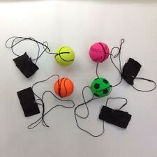 1 X RUBBER HIGH BOUNCE BALL with Elastic String and adjustable wriste band Hot