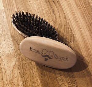 Beard Buster Premium Bartbürste Echtholz - Wildschweinborsten - Bartpflege