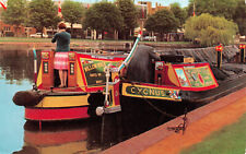 R243817 Britains Inland Waterways. Narrow boats in the Stratford Canal basin at