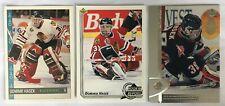 3 Dominik Hasek Cards 2 1992-93 OPC #301, UD #366 1996-97 UD #222 Buffalo Sabres