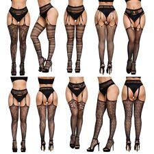 Women Fishnet Lace Thigh High Knee Socks Long Stockings Hosiery Pantyhose Lot