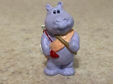 Hallmark 1990 Valentine Merry Miniature - Hippo Cupid with Gold Sticker