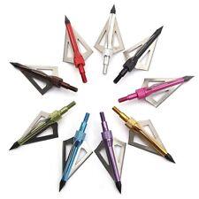 24pcs Arrowheads Points Color Hunting  Arrow Compound bow Carbon Fiberglass Arch