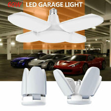 LED Garage Shop Work Lights 60W 5400lm E27 Home Ceiling Fixture Deformable Lamp