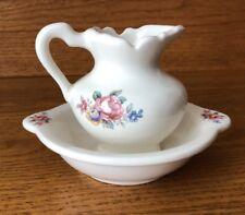 VB Athena Mini Pitcher & Wash Basin Pink Roses Age Unknown