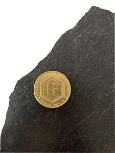 FRANCE - MONNAIE OR de 1 FRANC CHARLES DE GAULLE de 1988.8 grs 920 ‰ en BE E252