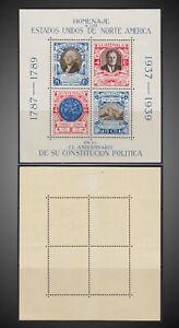 1938 GUATEMALA GEORGE WASHINGTON FRANKLIN D. ROOSEVELT SS NHSCT.C92 CO7 MI.BLK 1