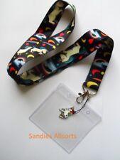 Unicorn Rainbow Lanyard Neck Strap / Clear PVC ID Holder / Charm