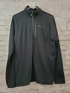 Patagonia Men's R1 Fleece Pullover 1/2 Zip Black Large