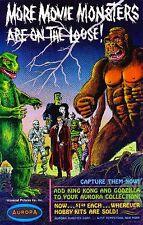 Aurora 1964 Monster Kit AD Frankenstein Godzilla & King Kong Sticker or Magnet