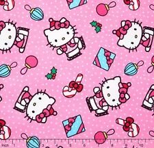 Hello Kitty Present Toss 100% cotton Fabric by the yard
