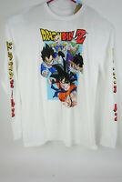 Dragon Ball Z DBZ Graphic Men's XL White Yellow Red Long Sleeve T-Shirt