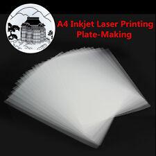 20 x A4 Inkjet Laser Printing Plate-Making Film Screen Printing Transparent