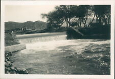 Original Photograph India 1931 Chadara Swat Canal 3.5 x 2.5 inches
