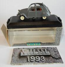 b VITESSE CITROEN 2CV CAPOTE FERMEE MALLE BOMBEE CLOSED 1955 1/43 BOX REF 525-2