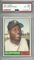 1961 Topps baseball card #82 Joe Christopher, Pittsburgh Pirates graded PSA 6