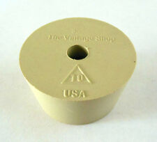 1 x Size #10 Rubber Stopper w/ Airlock Hole Homebrew Bung Jug Wine Drilled Gum