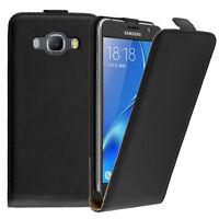 Etui Coque Housse PU Vrai Rabat Flip Cover pour Samsung Galaxy J5 (2016) J510FN