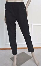 Nwt 7 For All Mankind Soft Cuffed Ankle Pull on Twill Jeans Pants Sz 28 6 Black