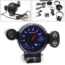 "Professional 12V Tachometer Gauge Kit LED 3.5"" Auto Meter +Stepping Motor RPM"