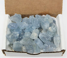 1/2 lb Bulk Lot Rough Natural CELESTITE Box Collection (Sky Blue Crystals 8 oz)