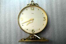 IMHOF Swiss Made Saks Fifth Avenue Brass Mantle Clock