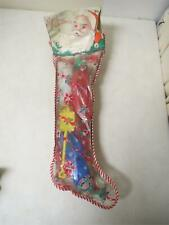 Vintage 1960s CHRISTMAS STOCKING FILLED WITH PLASTIC TOYS Tico Rosbro SEALED 23