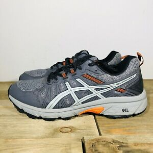 Asics Gel Venture 7 MX Gray Red Men's Size 8.5 Trail Running Shoes 1011A736