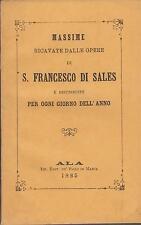 Francesco di Sales: massime ricavate dalle opere 1885
