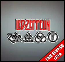 Led Zeppelin Vinyl Wall logo Decal Sticker Classic Rock Band Various Sizes
