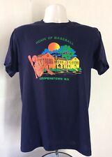 Vtg 80s Cooperstown Ny Home Of Baseball T-Shirt Blue S/M 50/50 Souvenir