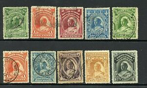 Niger Coast Protectorate #43-46 & #55//61 (NI368), Q. V. M,H, mostly U,CV$150.10