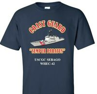 USCGC SEBAGO  WHEC-42 *COAST GUARD  VINYL PRINT SHIRT/SWEAT