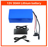 Lithium Battery 30AH 12V Volt Rechargeable Portable Prospecting Solar Camping