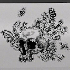 Sugar Skull Rose Graphic Tailgate Hood Window Decal Vehicle Car SUV Vinyl Truck