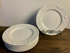 Set of 6 Mikasa English Countryside White Dinner Plates DP900 Excellent cond.