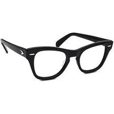 Vintage Bausch & Lomb Eyeglasses 4 1/4-5 1/2 Horn Rim Frame USA 48[]20 140