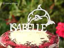 Personalised Name Birthday Cake Topper Decoration With Dolphin
