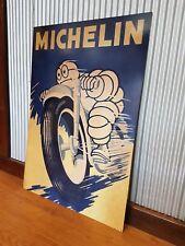 Large Michelin Man Metal tin sign Motorbike Tyres Mancave bar Garage