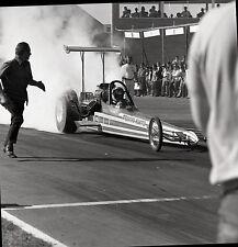 'Praying Mantis' Jeb Allen Rear Engine Dragster - Vintage Drag Racing Negative