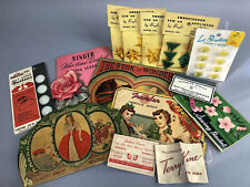 vintage lot sewing notions supplies advertising needle buttons colorful ephemea