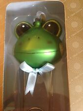 Dillard's Trimmings Baby's First Christmas Frog Safety Pin Rattle Ornament