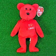 "NEW Ty Beanie Baby Canada The Bear ""I <3 Bears"" 2004 Retired  - FREE SHIPPING"