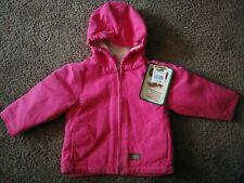 New C.E. Schmidt Baby Girls 12M Pink Sherpa Lined Hooded Winter Jacket Coat