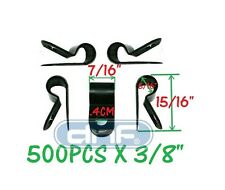 """500 PACK 3/8"""" BLACK NYLON CABLE CLAMP UV WEATHER RESISTANT - SHIPS FREE TODAY!"""